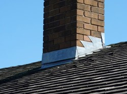 New flashing on a chimney in Leicester